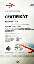 Certifikát ISO 27001:2013